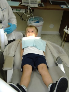 Isaac at 4 years at the dentist