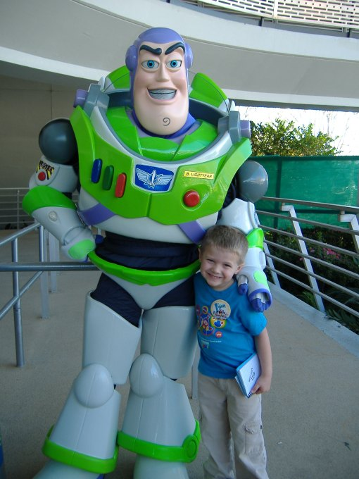 Isaac with Buzz Lightyear