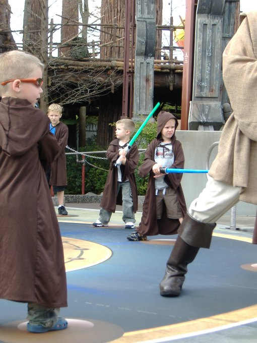 Isaac was choosen to train as a Jedi and fight Darth Vador!