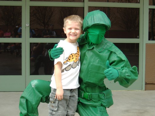 "Isaac with the ""Green Army Man"""