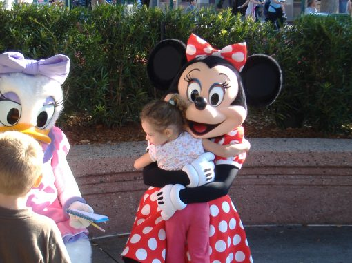 Gracelyn with Minnie Mouse