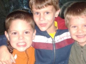 Isaac with his Kentucky friends...Ballard, Dylon and Isaac