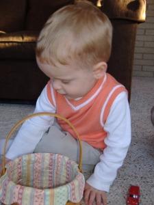 Owen on Easter Morning.